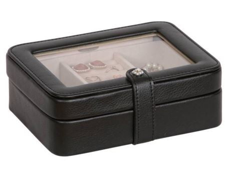 Rio Black Glass Top Jewelry Box