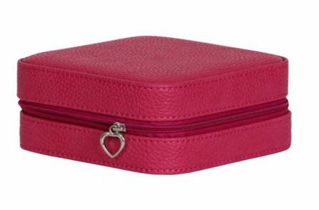 Josette Square Travel Jewelry Box With Zipper