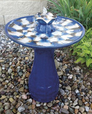 Blue Bird Bath Fountain