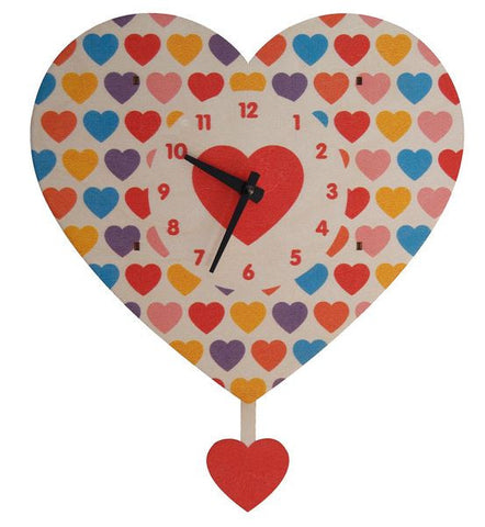 Heart Pendulum Wall Clock