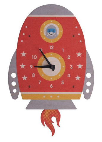 Spaceship Pendulum Wall Clock