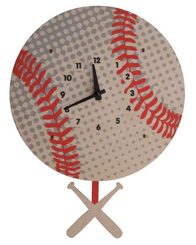 Baseball Pendulum Wall Clock