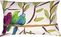 Flocked Together Songbirds Pillow Indoor/Outdoor