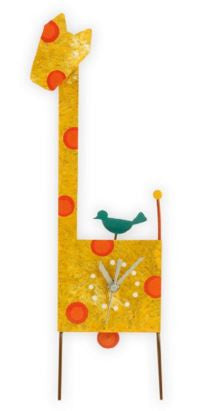 Giraffe Orange Table Clock