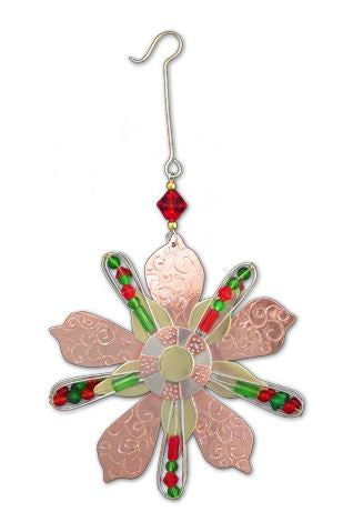 Poinsettia Star Hanging Decoration