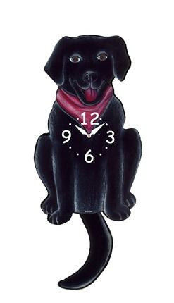 Black Lab Wall Pendulum Clock