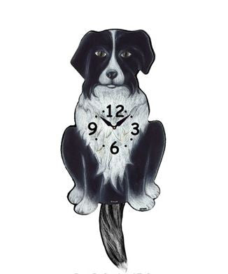 Border Collie Dog Wall Pendulum Clock