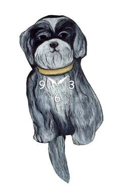 Shih Tzu Dog Pendulum Wall Clock