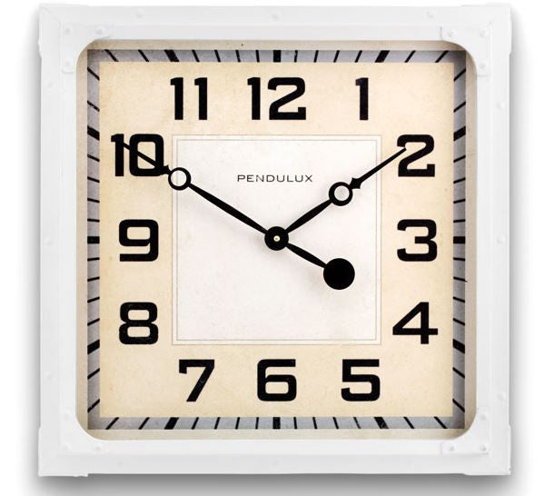 Cream Gas Station Wall Clock