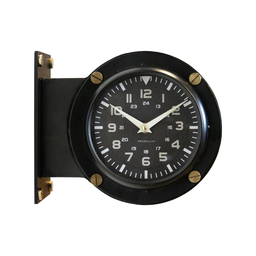 Double Sided Airport Wall Clock