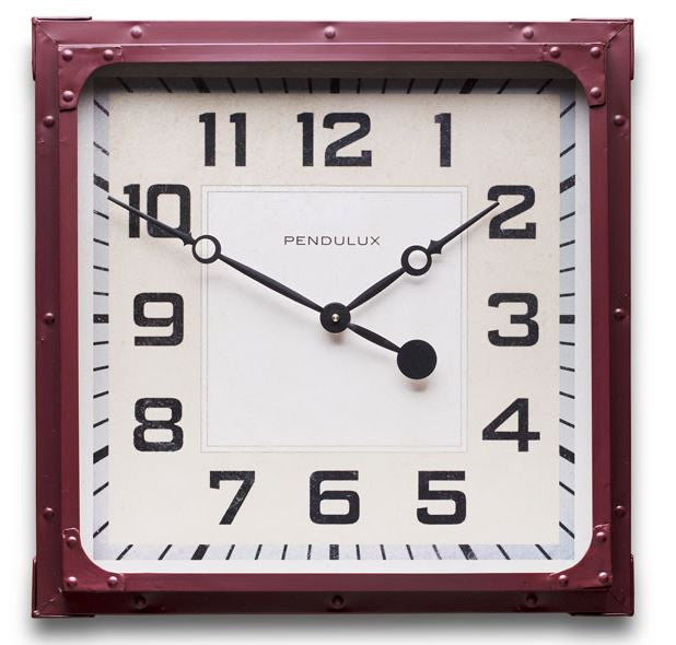 Red Gas Station Wall Clock