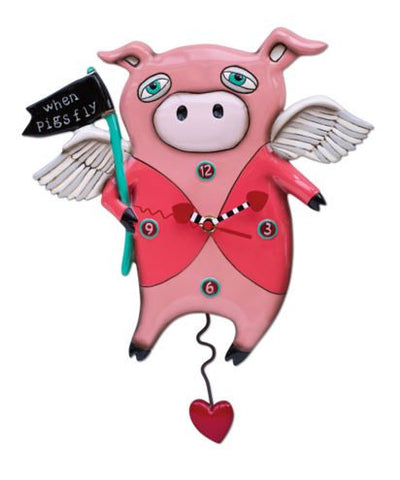Pigs Fly Pendulum Wall Clock