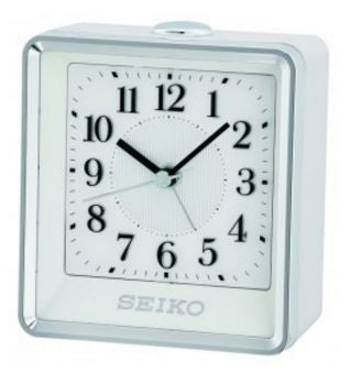 Rooney Silver And White Alarm Clock