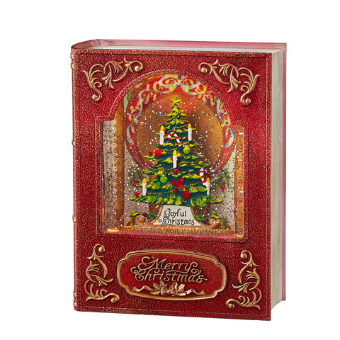 Red Christmas Tree Lighted Water Book