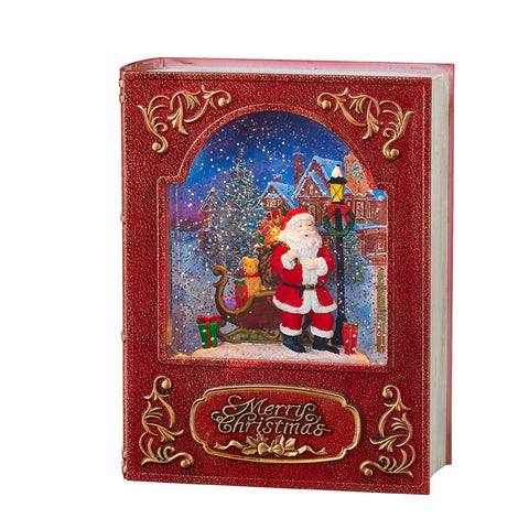 Red Santa Lighted Water Book