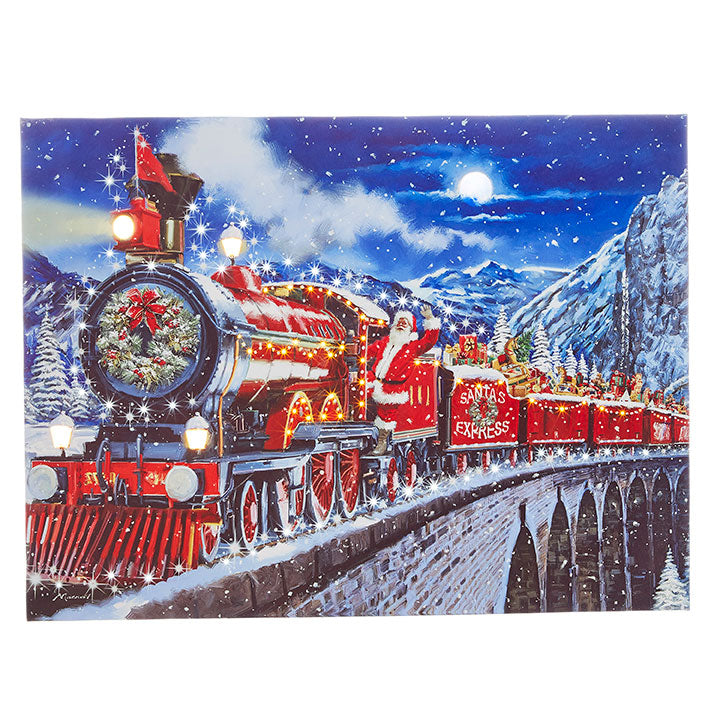 Santa Express Lighted Print