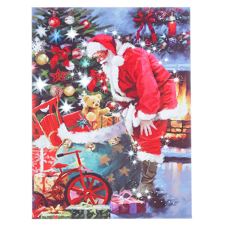 Santa's Toy Bag Lighted Print