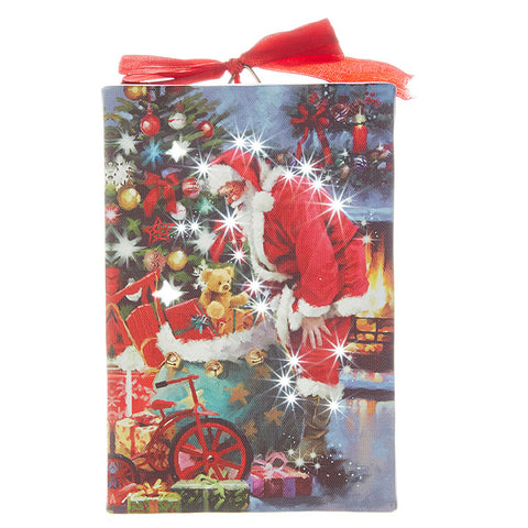 Santa's Toy Bag Lighted Print Ornament
