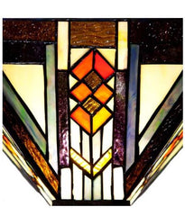Southwestern Mission Style Stained Glass Torchiere