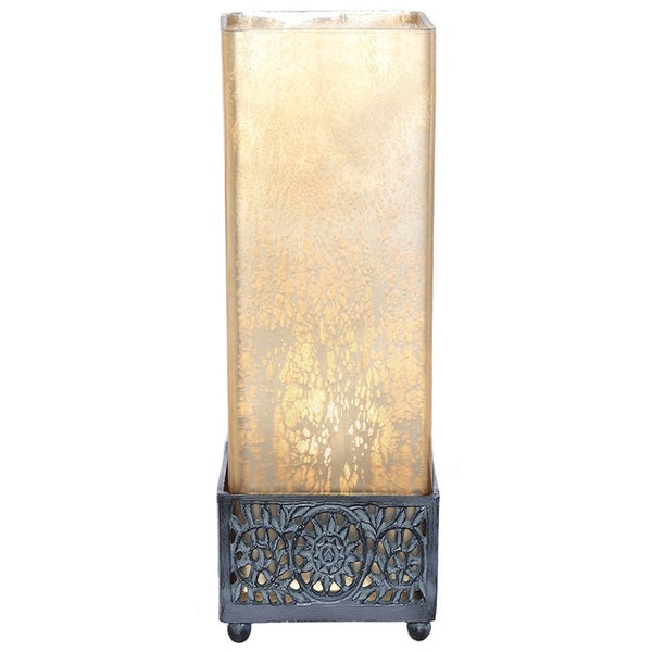 Studio Art Gold Mercury Glass Square Uplight Accent Lamp