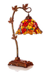 Harvest Leaves Red Accent Table Lamp
