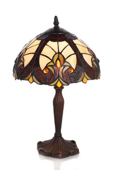 Amber Halston Stained Glass Table Lamp