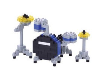 Blue Drum Set Nanoblock Kit