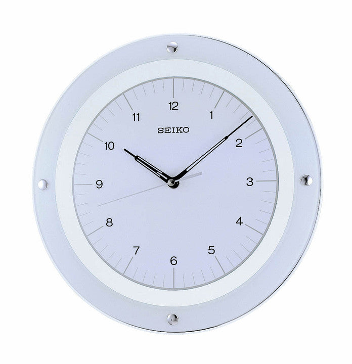 Floating Dial Wall Clock with Quiet Sweep - White