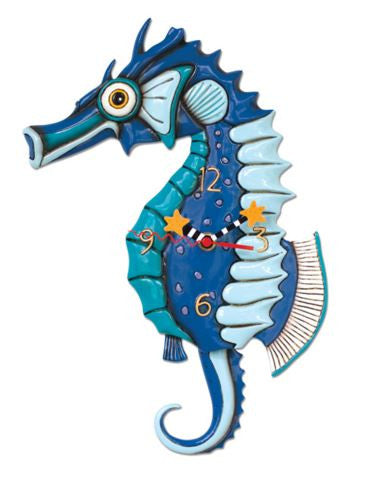 Salty Sea Horse Pendulum Wall Clock