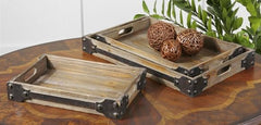 Fadia Small Natural Wooden Tray
