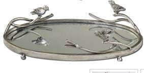 Birds on a Limb Small Mirrored Tray