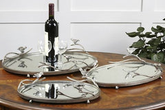 Birds on a Limb Medium Mirrored Tray