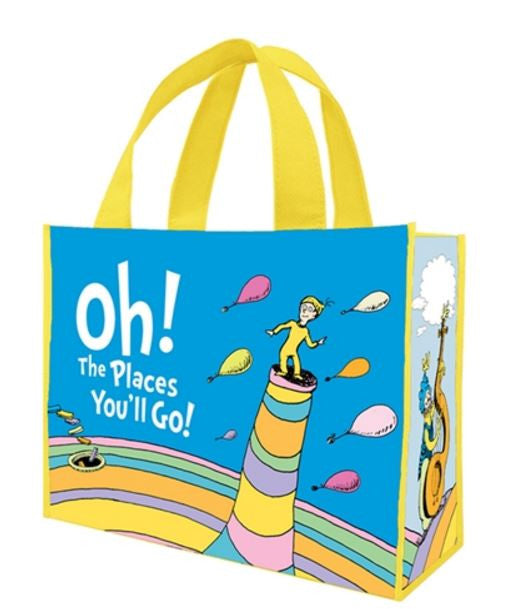 "Dr. Seuss ""Oh the Places You'll Go"" Large Recycled Shopper Tote"