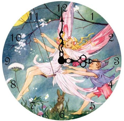 Swinging Fairies Wall Clock