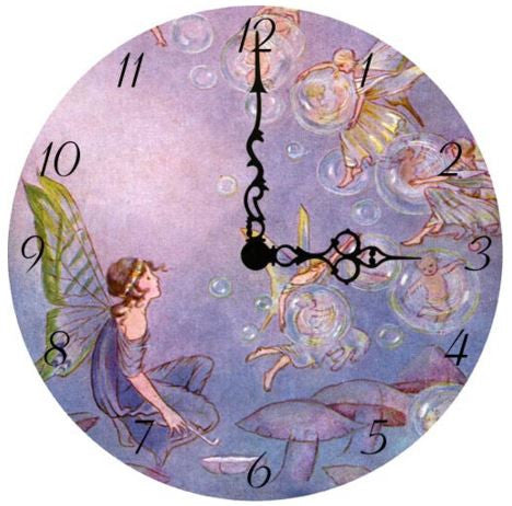 Bubble Fairy Wall Clock
