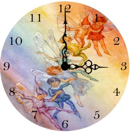 Rainbow Fairy Wall Clock