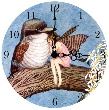 Fairy With A Bird Wall Clock