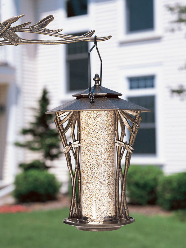 Dragonfly Silhouette Recycled Aluminum Bird Feeder