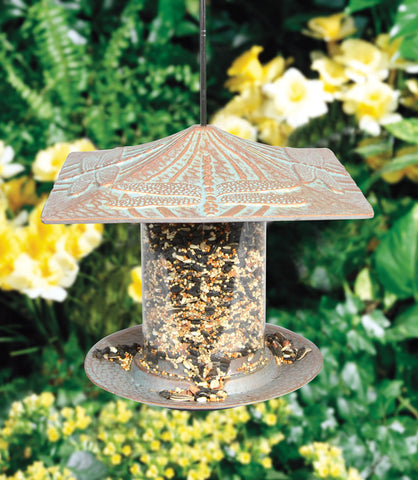 Dragonfly Tube Recycled Aluminum Bird Feeder