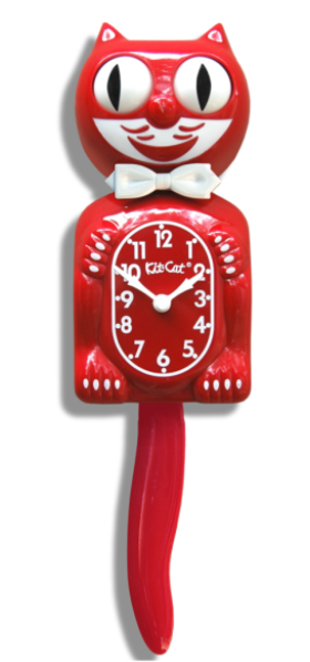 Scarlet Gentlemen's Kit-Cat Wall Clock