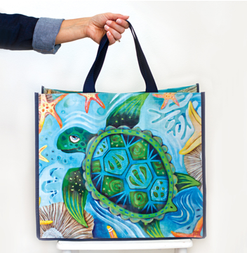 Happy Turtle Shopper Tote