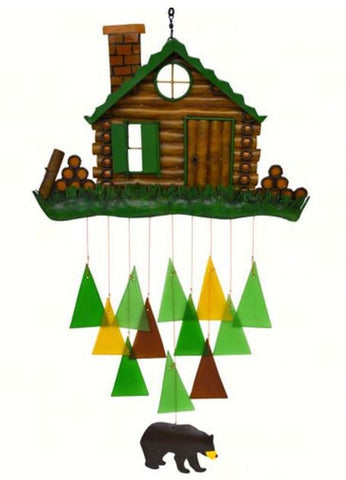 Log Cabin Sea-Glass Wind Chime