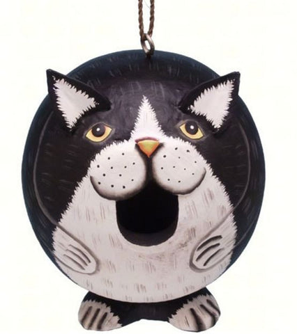 Black & White Cat Gord-O Birdhouse