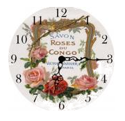 Pink French Cologne Mini Table Clock