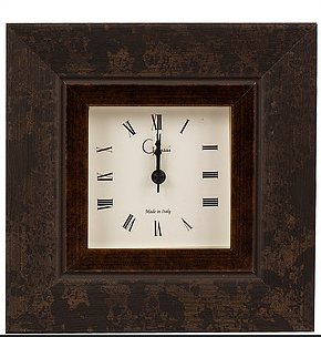 Oxidized Brown Picture Frame Alarm Clock