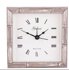 Grey Bamboo Picture Frame Alarm Clock