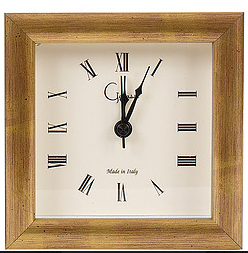Gold Wood Picture Frame Alarm Clock
