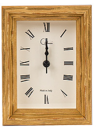 Gold Rippled Picture Frame Alarm Clock