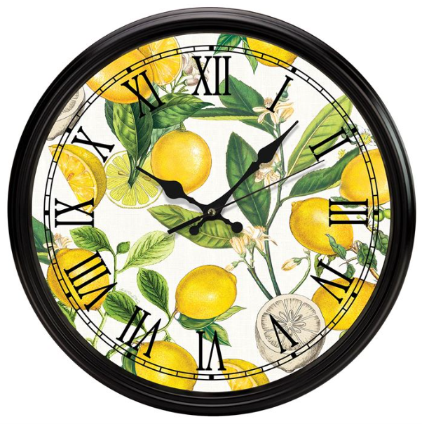 Lemon Basil Wall Clock