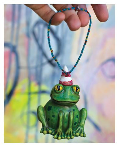 Party Frog Hanging Ornament